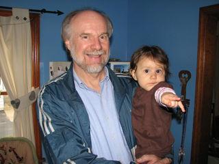 Grandpa D and Kara ten months