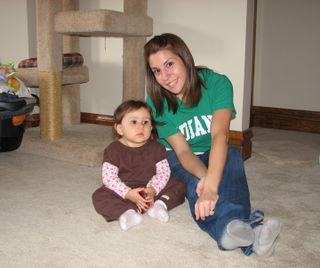 Kara and Auntie Ryan ten months