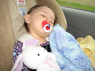 Kara car seat sleeping