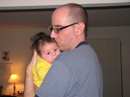 Daddy and Kara yellow sleeper
