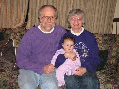 Grandpa and Grandma D Kara purple