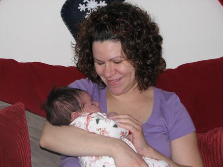 Momma and Kara Christmas 2007