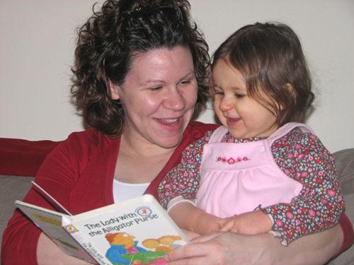Momma and Kara reading