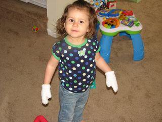 Kara socks as mittens