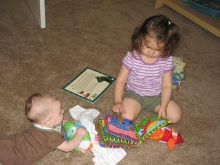 Kara and Nathan reading together