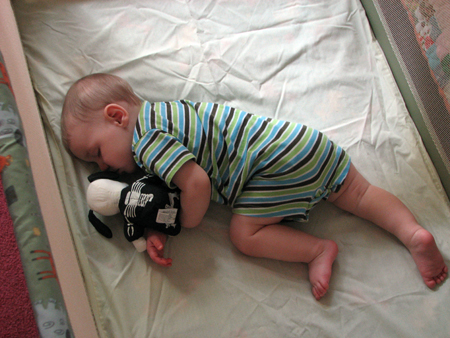 Nathan napping