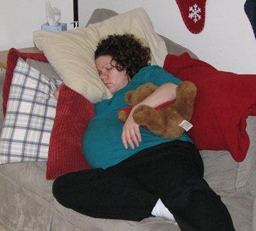 Kara pregnancy 40 weeks sleeping