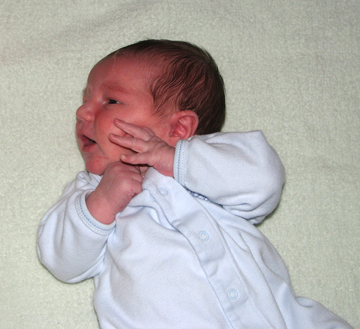 Nathan blue sleeper hands