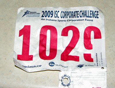 Corp Challenge 5K bib