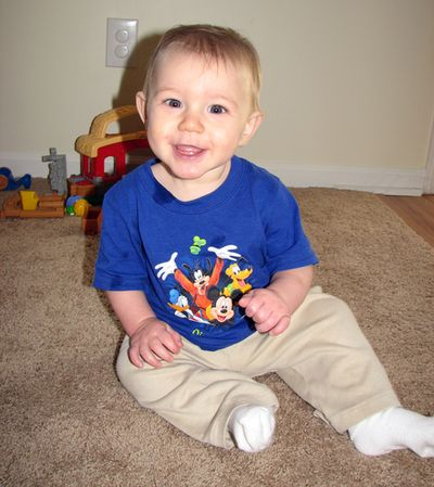 Nathan 8 months Disney shirt
