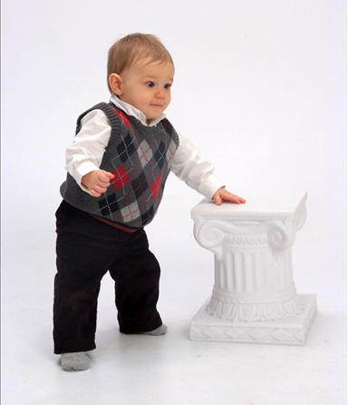 Nathan 10 months standing vest