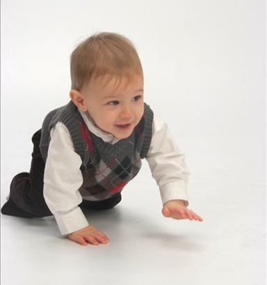 Nathan 10 months crawling vest