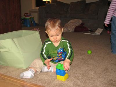 Nathan 11 months blocks