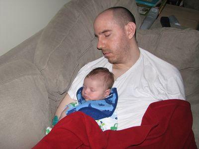 Luke Nathan sleeping - month 2