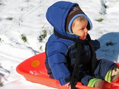Nathan month 12 sled