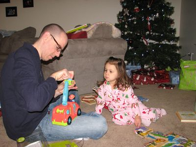 Christmas 09-9 Daddy Kara fire truck
