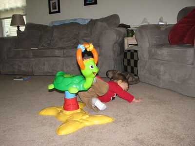 Nathan 11 months turtle falling