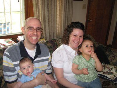 Family shot Merrillville - month 4