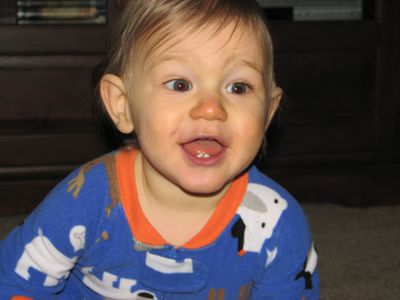 Nathan month 12 pjs
