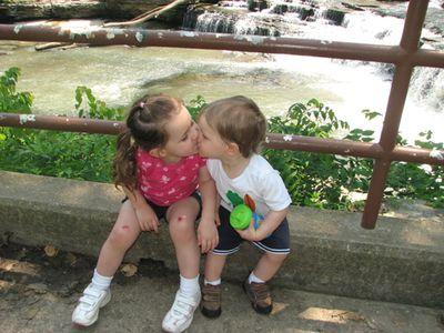 Kara Nathan waterfall smootch 5-10
