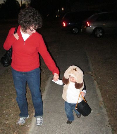 Halloween 2010 - Nathan trick-or-treating