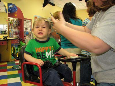 Nathan 15 months haircut 4
