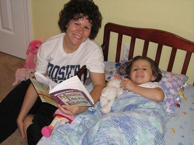Momma Kara big girl bed 8-14-10