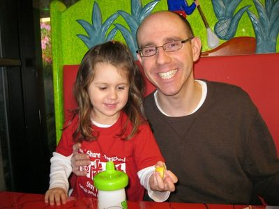 Kara b-day 2010 with Daddy