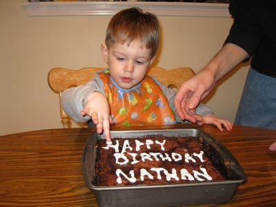 Nathan 2nd birthday - cake shot 1