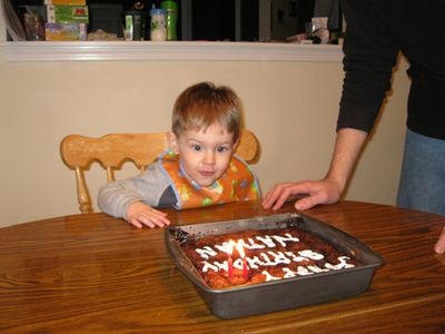 Nathan 2nd birthday - cake shot 2