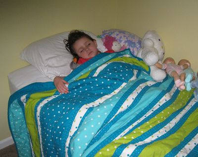 Big girl bed asleep