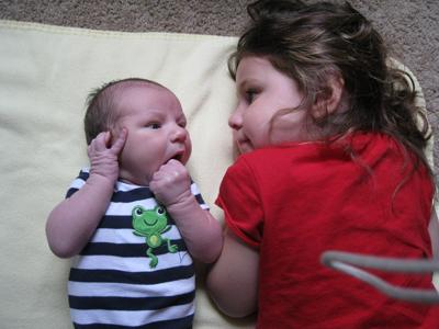 Liam 7-4-11 with Kara