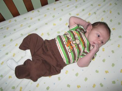 Liam monkey outfit July 2011