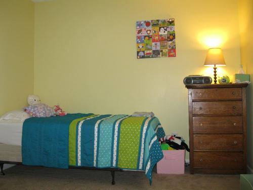 Big girl bed side