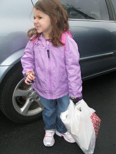 Kara 1st day preschool 9-7-11