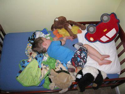 Big boy bed asleep actual