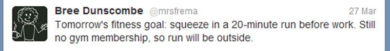 March 2012 Running Tweet 1