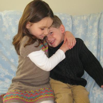 Brother sister hug 2-20-12