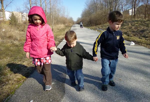 Kids in a row Feb 2013