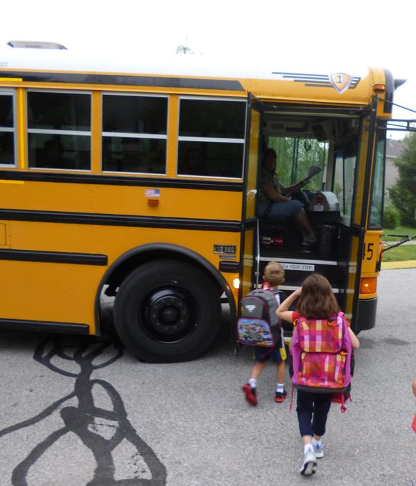Kara on the bus 8-7-13