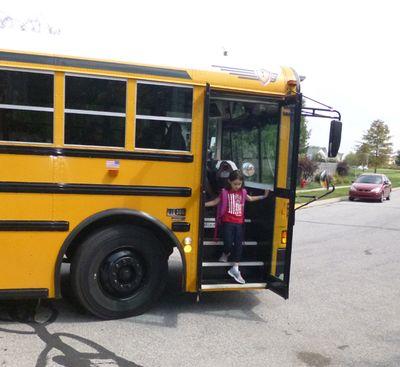 Kara off the bus 8-7-13