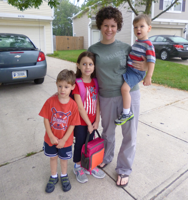 Mommy and kids 8-7-13
