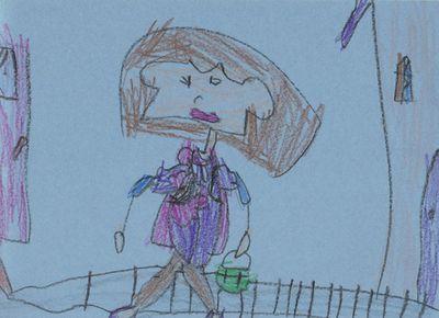 Kara's first day of kindergarten picture