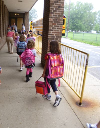 Kara entering school 8-7-13